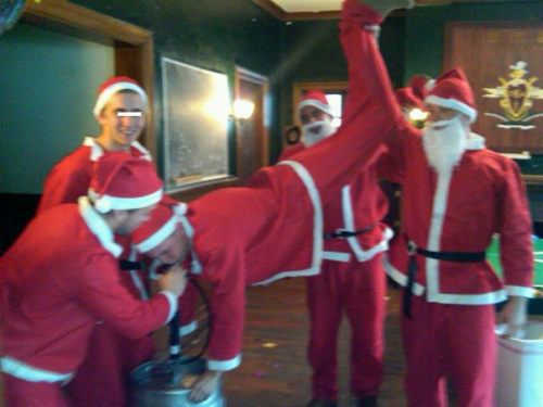 These Santas know how to rage.