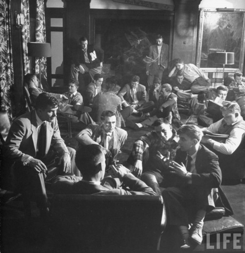 1949 Sigma Chi bull session. TFM.