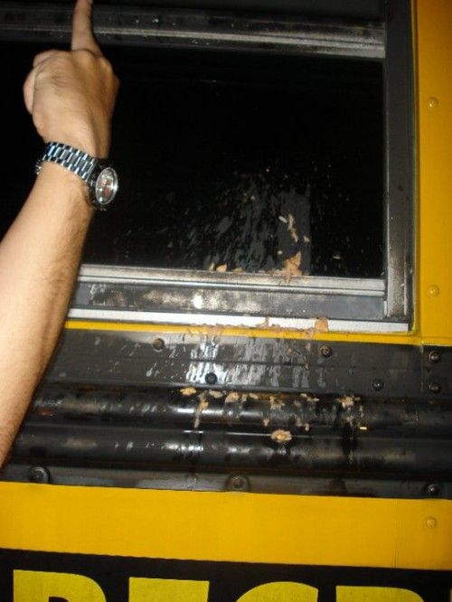 The social bus ride puke. TFM.