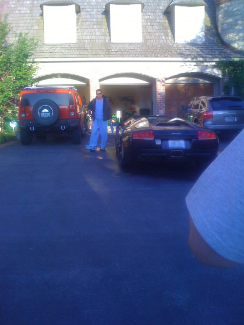 Coming home to dad smoking a cigar while cleaning his lambo. TFM.