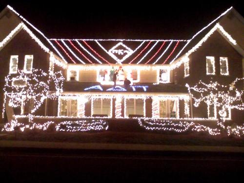 Not a bad Christmas light effort.
