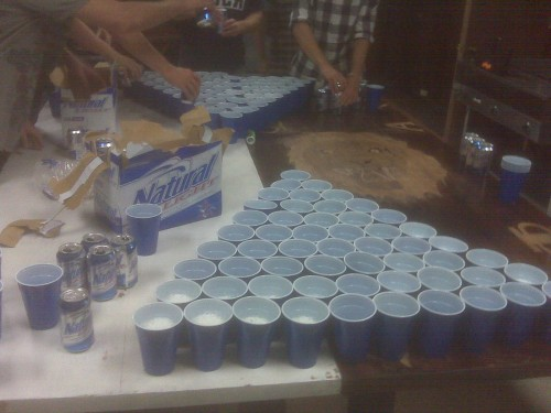 Epic Pong: 60 cup, 30 beers. TFM.