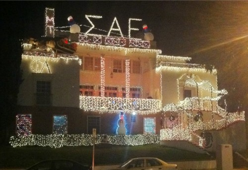 I guess the pledges did an okay job with the lights.