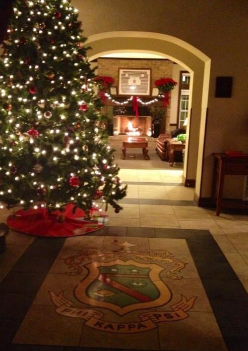 Christmas at Phi Kappa Psi mansion.