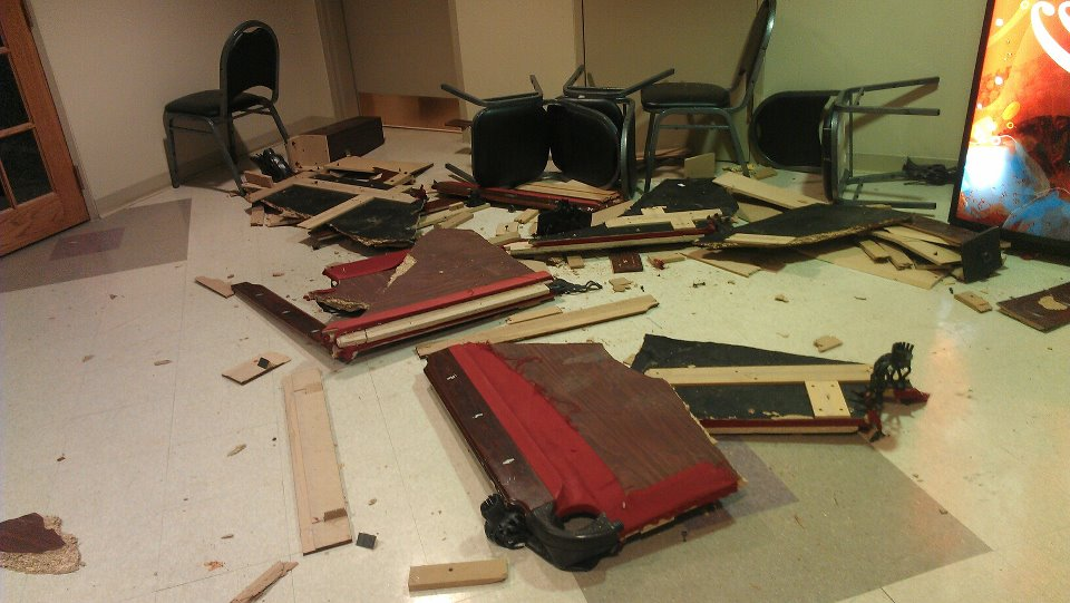 We let the pledges know their shitty, used pool table wasn't an acceptable Christmas gift.