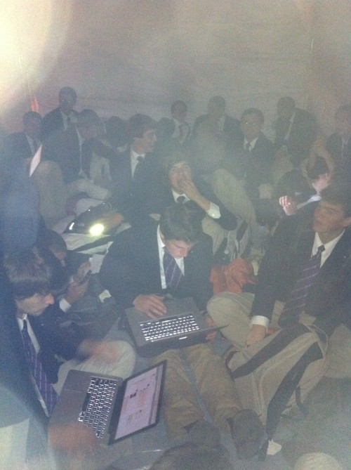Pledge camp out. TFM.