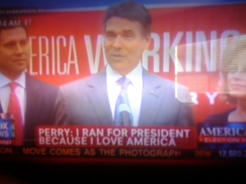 """I ran for President because I love America."" TFM."