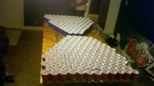 120 cups per side to start 2012 off on the right foot.