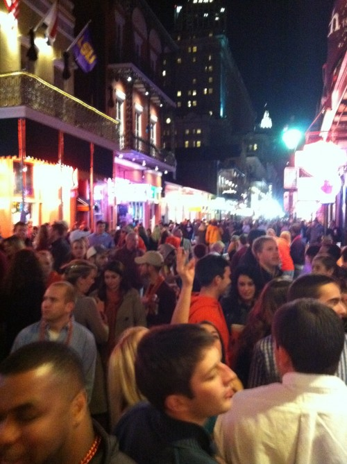 Bourbon Street before the National Championship. TFM.