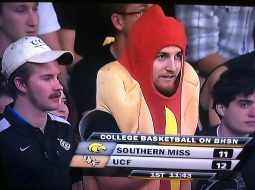 Looks like Hotdog Pledge is enjoying the game.