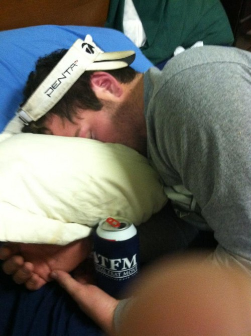 That beer will still be cold in 15 hours when he wakes up. TFM koozies on sale soon.