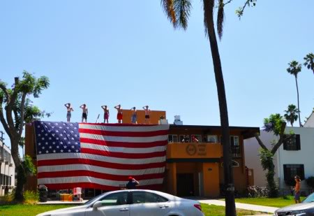 Gigantic American flag. TFM.