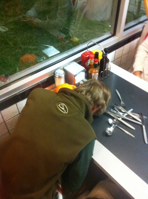 Too hammered to handle Waffle House.