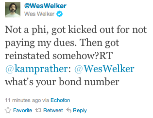 Wes Welker didn't pay his dues.