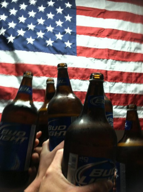 Bud Light and the American Flag. God Bless this country.