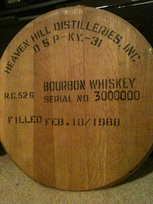 The 3 millionth barrel of Evan Williams. It was a gift from my great grandfather.