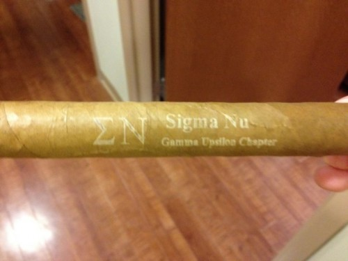 Even my cigars wear letters. TFM.