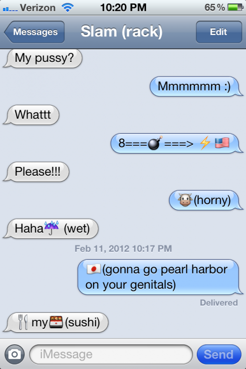 The rare occasion when using emoticons to get the point across. TFM.