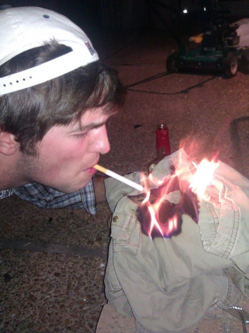 A pledge quickly learned not to wear cargo shorts. TFM.