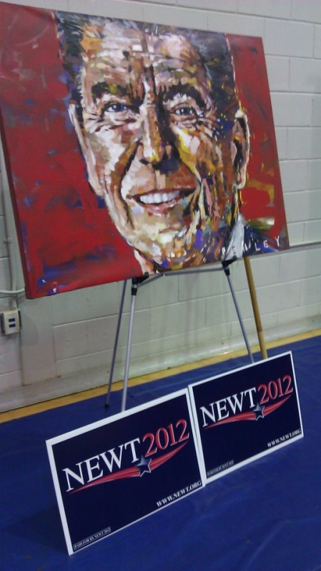 $50,000 PENLEY painting of President Reagan at a Newt speaking engagement. TFM.
