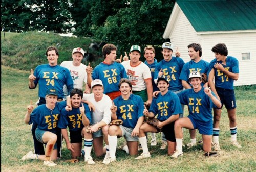The 80's: the golden years of fraternity life.