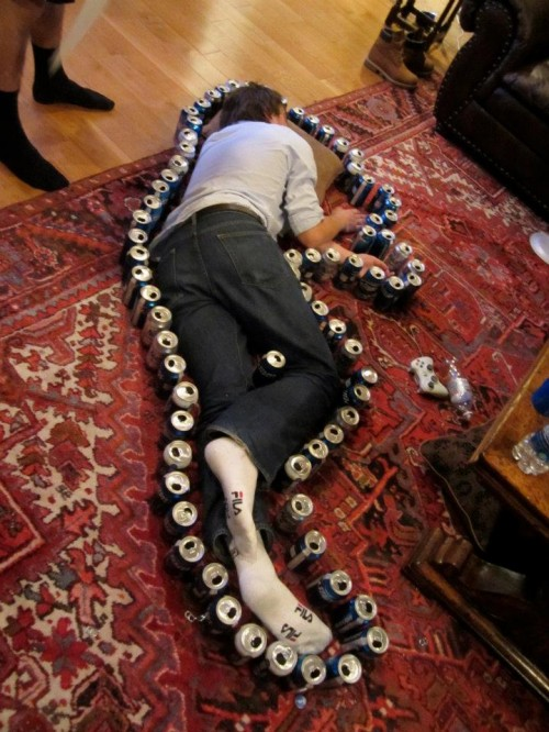 Beer can crime scenes. TFM.