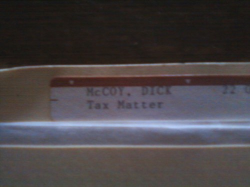 McCoy has tax problems? TFTC.