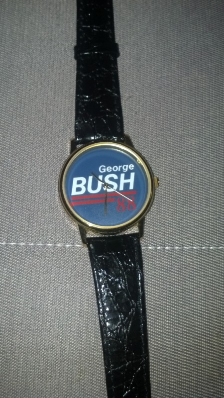 George Bush '88. A real man's watch.