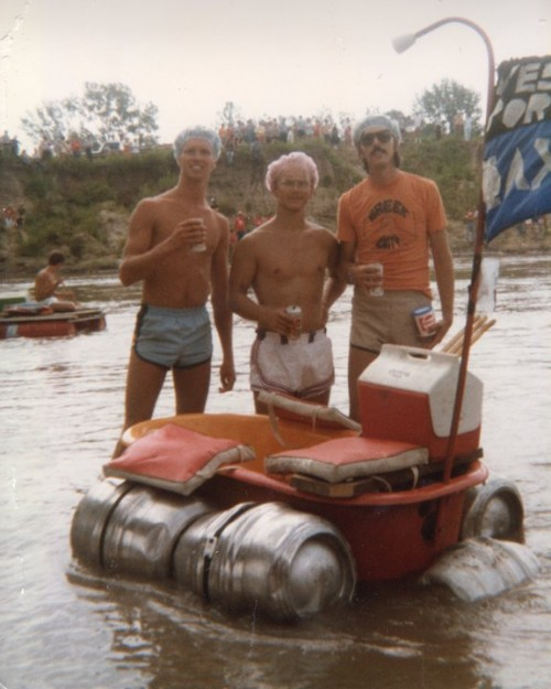 My dad's annual float trip in the '80s. TFM.