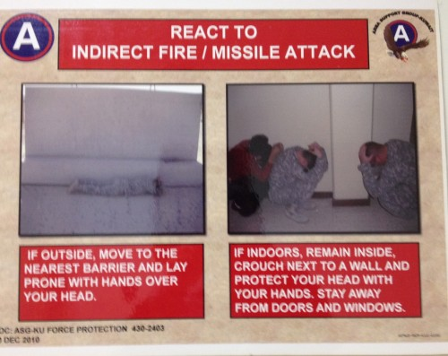 "The power of ""Tebowing"" will keep you safe from missile attacks. TFM."