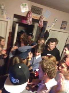 Sorostitutes doing keg stands in my room. TFM.