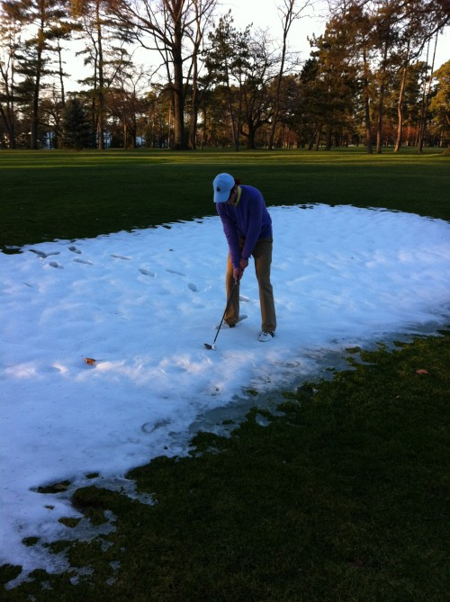 Never too cold for a quick nine. TFM.