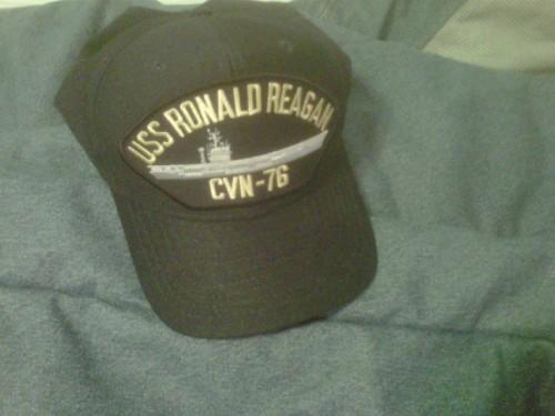 One of granddad's old hats: USS Ronald Reagan.