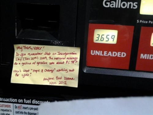 Making sure people know why they're getting killed at the pump.