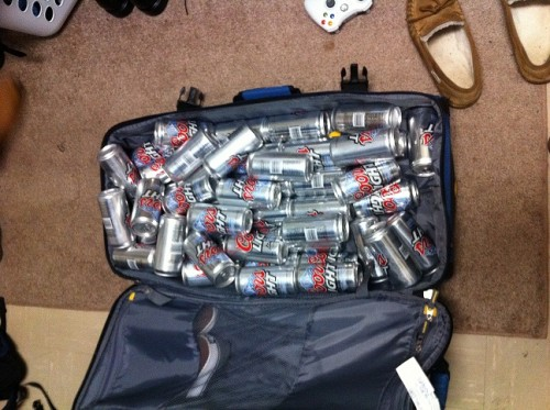 Packing only the essentials. TFM.