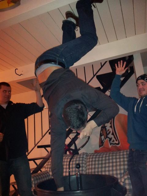 The only help I need to do a keg stand is someone to hold my beer. TFM.