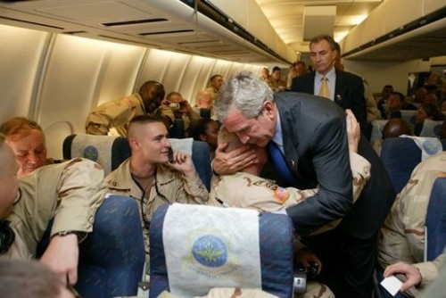 W showing how a real Commander in Chief acts.