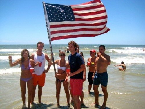 """Grip this American pole."" TFM."