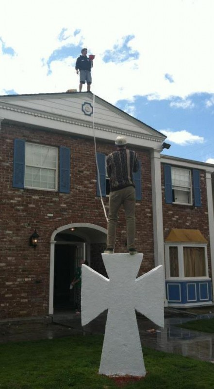 30 foot beer bong for St. Patty's day. TFM.