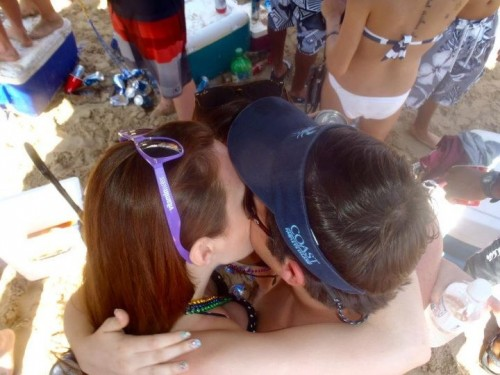 The inevitable three-way kiss. TFM.