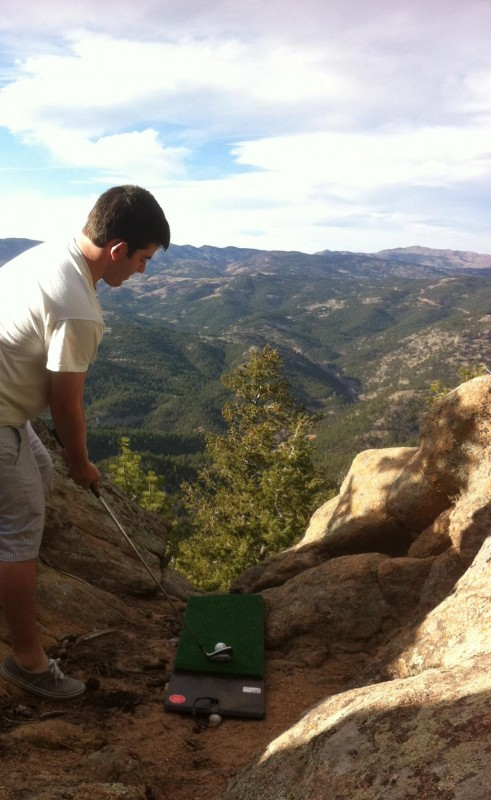 Making the rockies into a driving range. TFM.