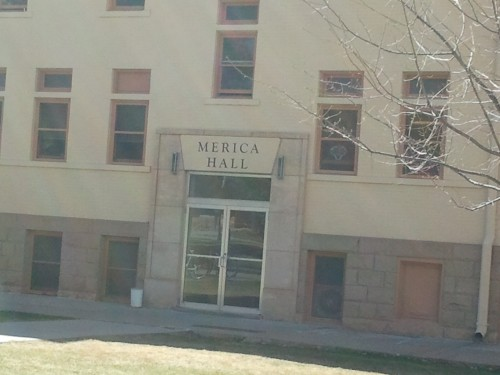 Who says Wyoming can't be frat? Merica Hall. TFM.