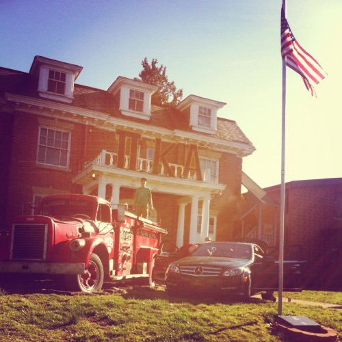 Parking the Benz beside the 1967 firetruck. TFM.