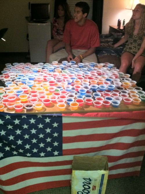 America and jello shots. TFM.