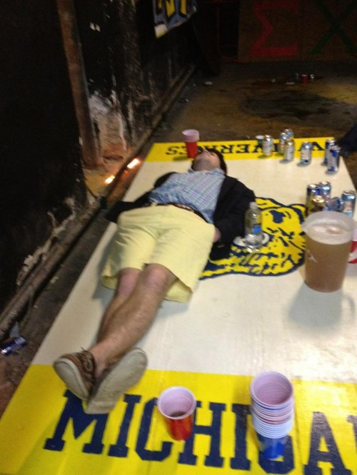 The post-win pass-out. TFM.