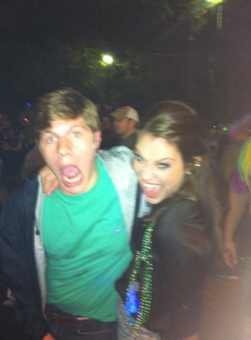Blacked out on Bourbon Street with TFM Sweetheart Shayna Ruth. TFM.