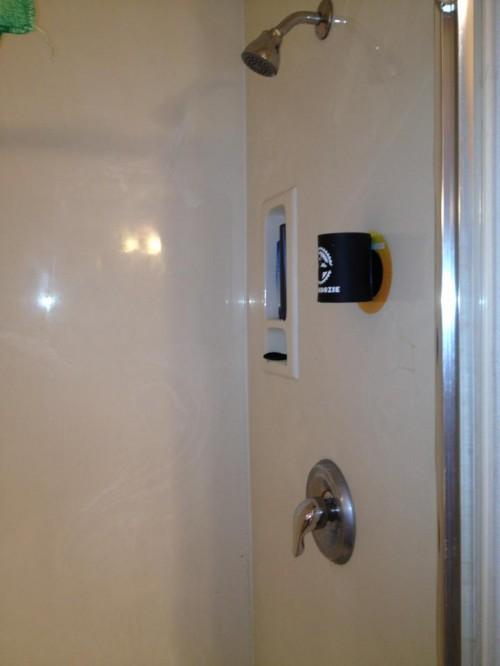Shower koozie. TFM.