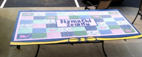 A product of the beautiful ADPi: Vineyard Vines beer pong table. TFM.