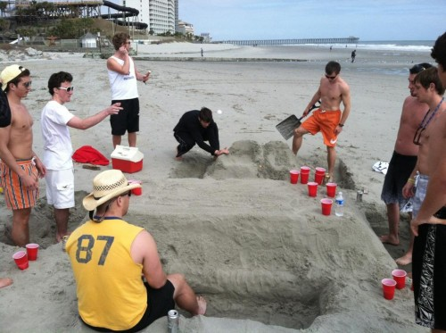 Interfraternal collaboration for the greater good of beer pong. TFM.