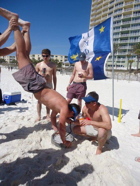 Keg stands on the beach. TFM.